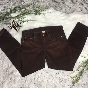 J.CREW • Brown Corduroy Cropped Jeans